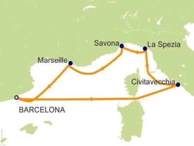Plavba: Itálie, Francie, Španělsko - Costa Diadema