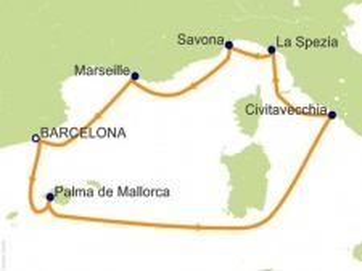 """Plavba """"Itálie, Francie, Španělsko, Baleáry"""" - Costa Diadema"""