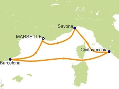 """Plavba """"Itálie, Španělsko, Francie"""" na lodi Costa Favolosa"""