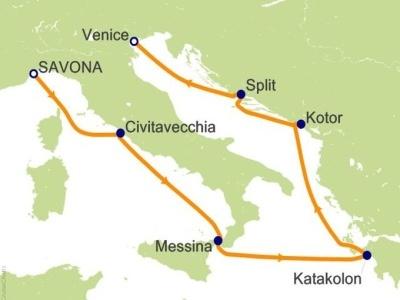 "Plavba ""ze Savony do Benátek"" - Costa Luminosa"