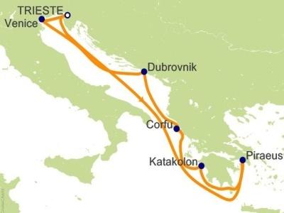 "Plavba ""z Trieste, Jadranem, do Athén"" - Costa Luminosa"