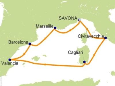 "Plavba ""z Marseille, přes Sicilii, do Marseille"" - Costa Pacifica"