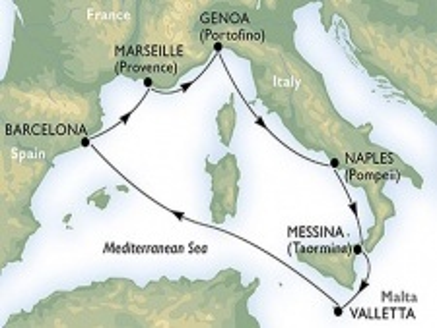 Plavba Západním Středomořím nejnovější lodí - MSC Meraviglia
