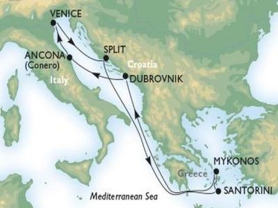 Plavba z Benátek do Chorvatska a Řecka (bus z Čr)