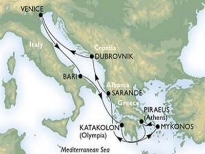 Plavba Jaderským a Jónským mořem - MSC Poesia
