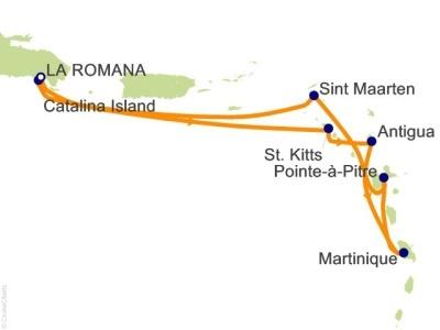 Plavba Antily, Dominikán.rep. - Costa Pacifica