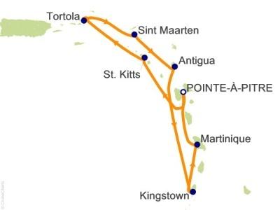 Plavby Antily, Trinidad a Tobago, Panenské ostrovy - Costa Magica