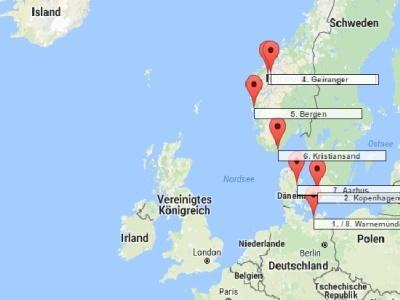 Plavba Německo, Dánsko, Norsko - Costa Favolosa