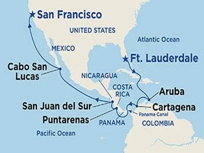 Plavba z Floridy skrz Panamský průplav do Los Angelos - Coral Princess