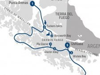 "Plavba ""Fjords of Tierra del Fuego"" na lodi Stella Australis"