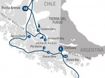"Plavba ""Charlese Darwina z Punta Arenas"" na lodi Stella Australis"