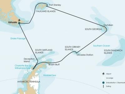 Plavba Falklandy, Jižní Georgia a Antarktický poloostrov - Plancius