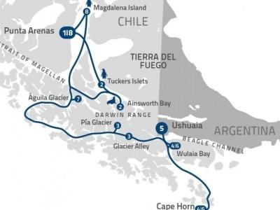 Plavba Charlese Darwina z Punta Arenas - Stella Australis