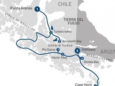 Plavba Fjords of Tierra del Fuego s all inclusive - Ventus Australis