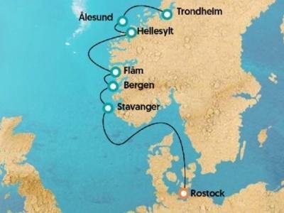 Plavba - Norské fjordy (Trondheim - Rostock) na lodi Zenith All inclusive