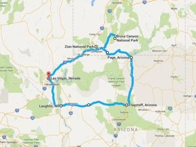 Harleyem po národních parcích západu USA a Las Vegas