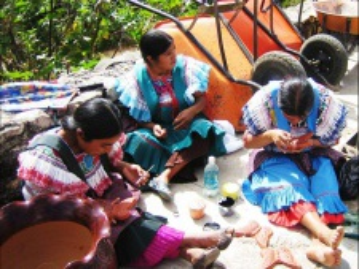 Mexické textilní techniky a Den mrtvých